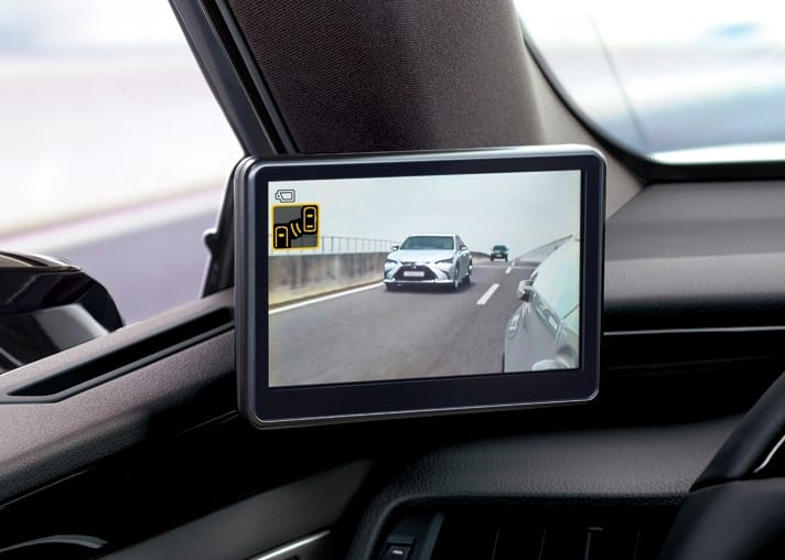 Lexus ES espelhos retrovisores Digitais